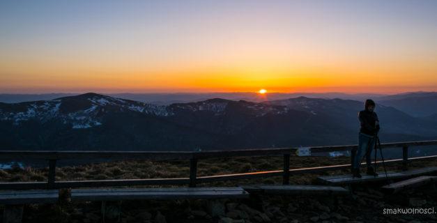 tarnica wschód słońca