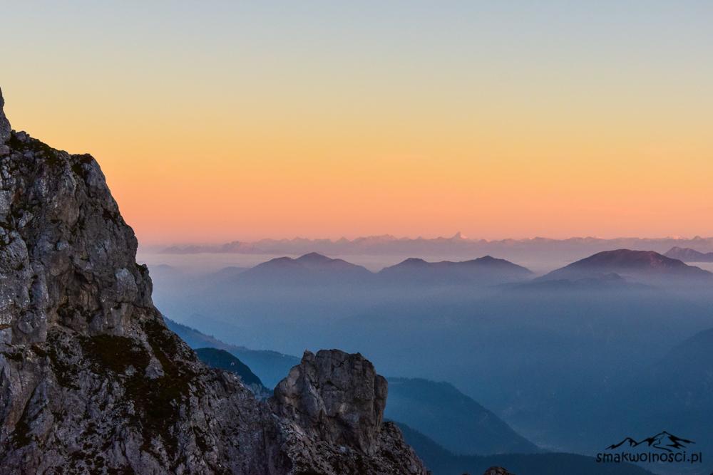 Mangart wschód słońca, alpy julijskie