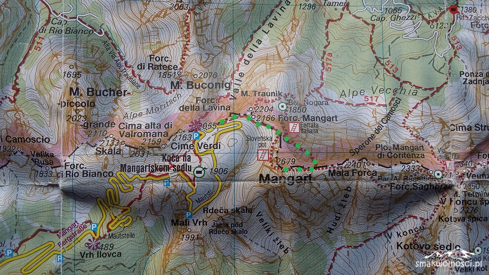 mangart-mapa