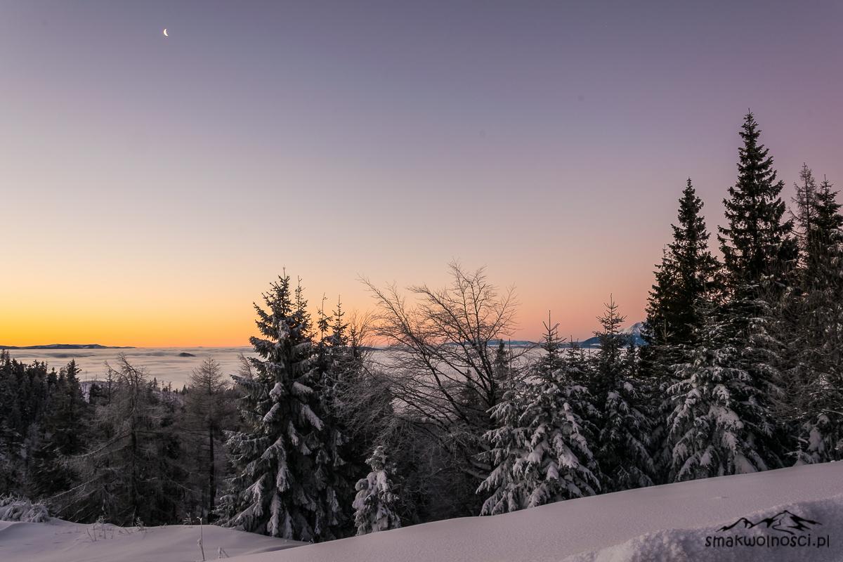 wschód słońca Przehyba