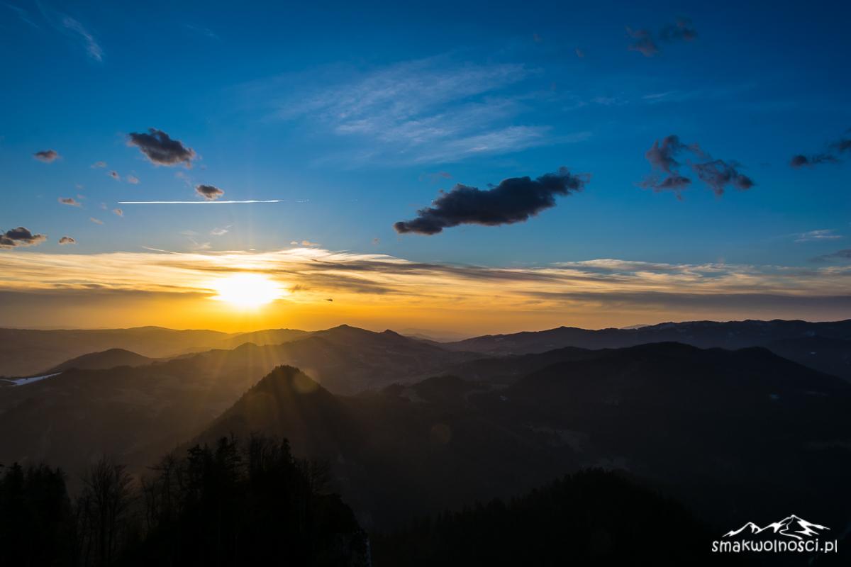 pieniny wschód słońca