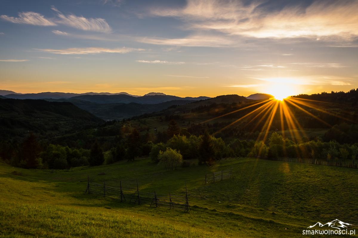 Góry Rodniańskie wschód słońca