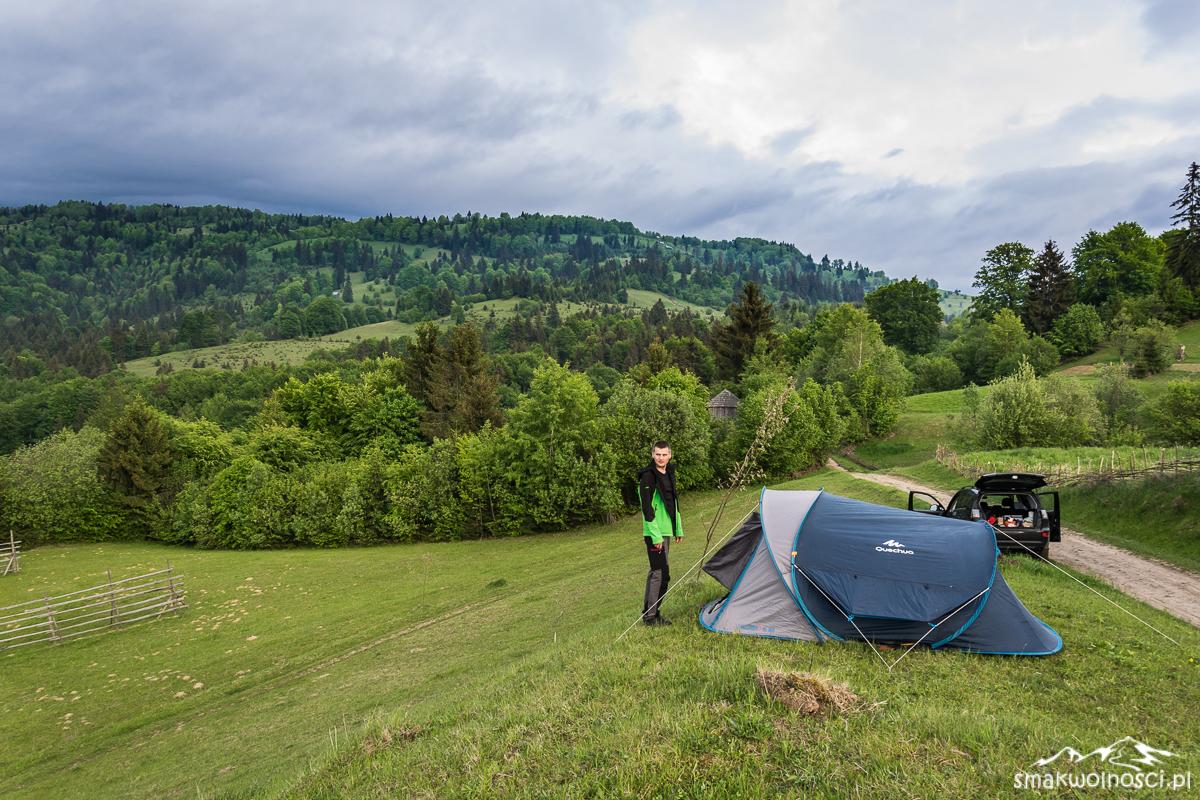 pod namiotem w Maramuresz
