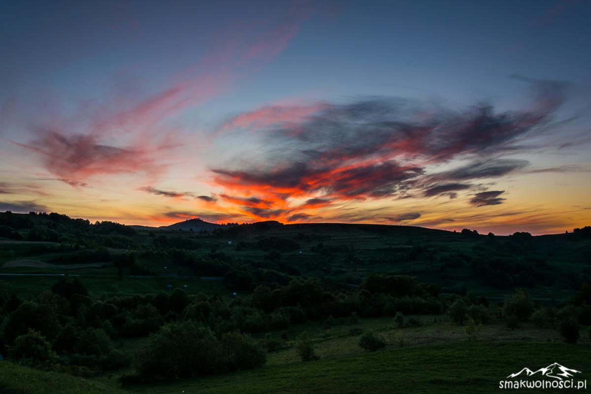 zachód słońca Maramuresz