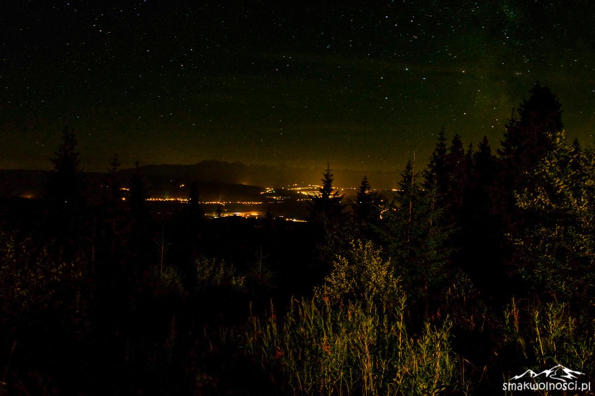 nocne niebo z Turbacza