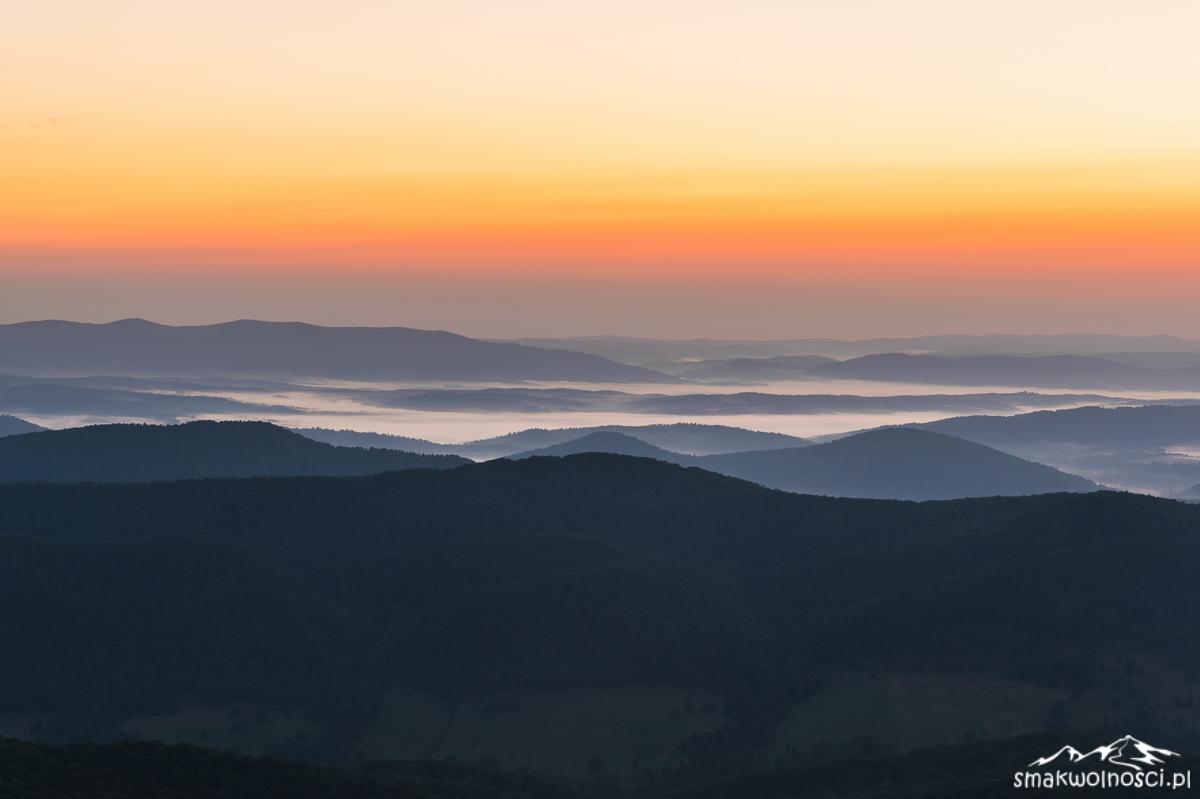 mgły w bieszczdach