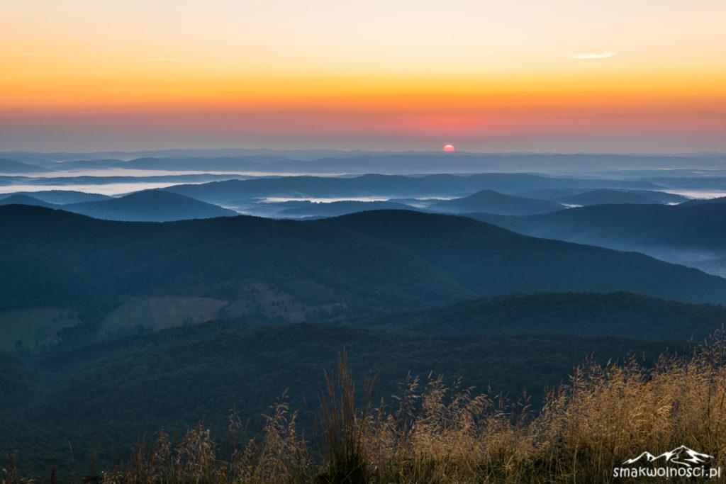 wschód słońca połonina caryńska
