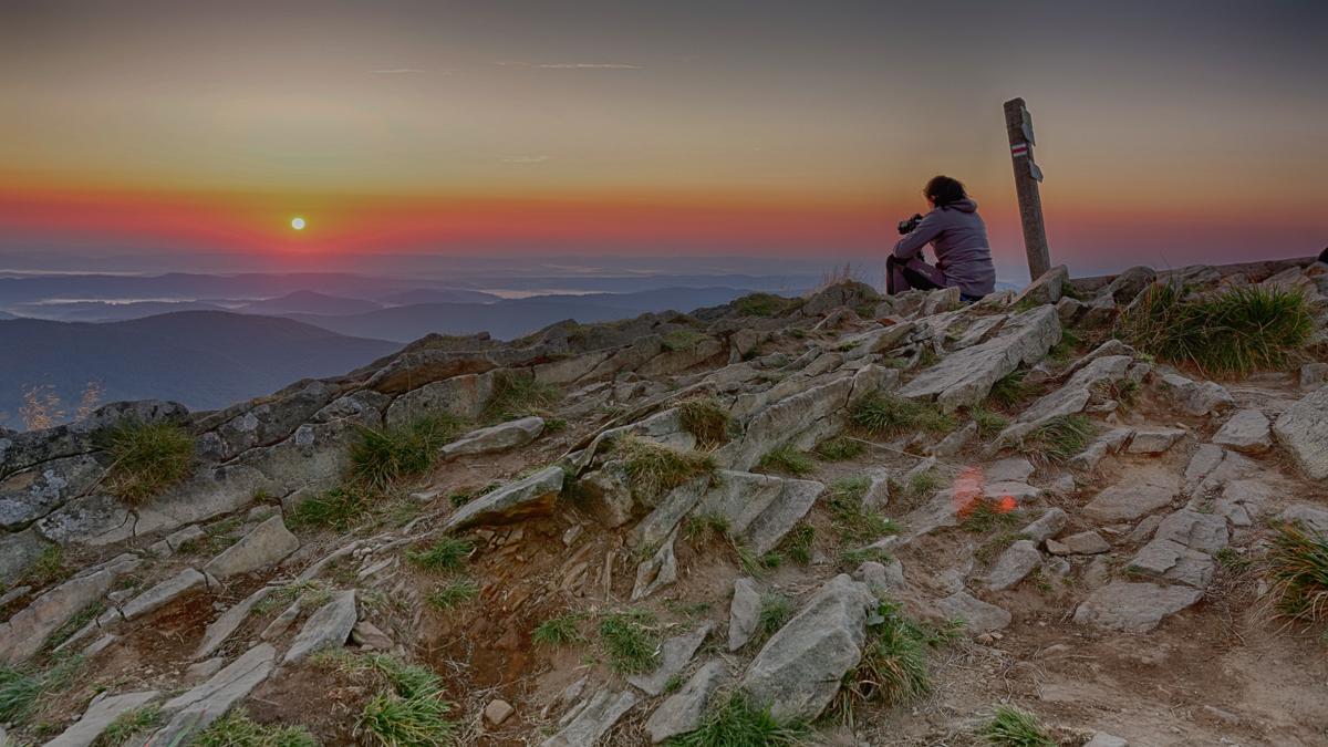 połonina caryńska wschód słońca