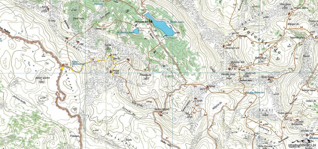 mapa Prutas